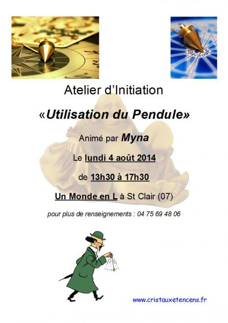 Affiche ateliers pendules