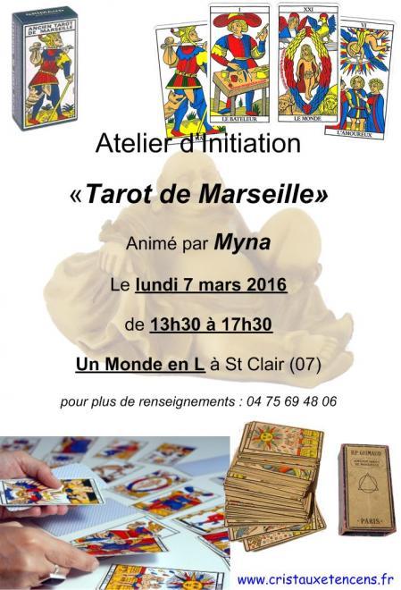 Affiche ateliers tarot marseille 07 03 2016