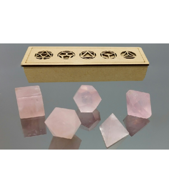 Solides de Platon Quartz Rose