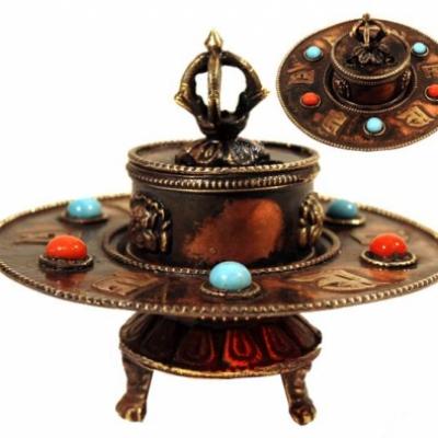 Brule Encens Tibétain métal