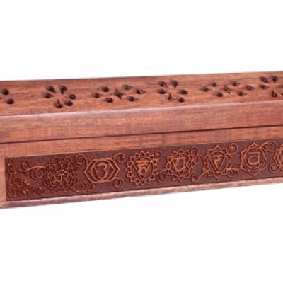 Porte Encens - Boîte à Tarots des 7 chakras