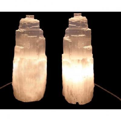 Lampe en Sélénite 15 à 20 cm