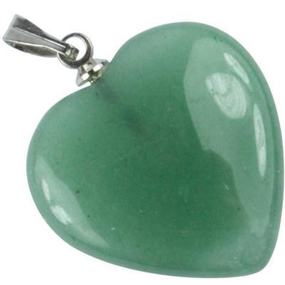 Pendentif Coeur Aventurine Verte 15 mm