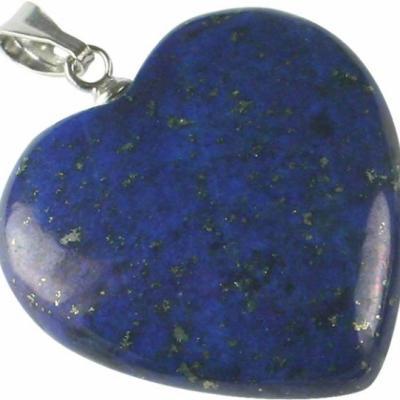 Pendentif Coeur Lapis Lazuli 20 mm
