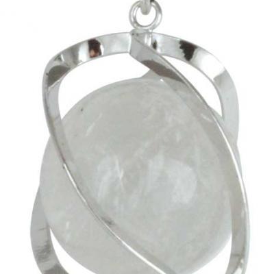 Pendentif Spirale Cristal de roche