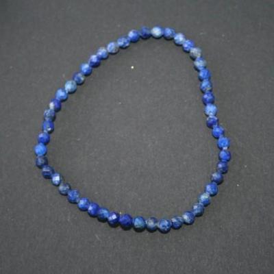 Bracelet Apatite Bleue 4 mm facetté