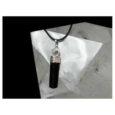 Pendentif Tourmaline Noire Cristal de roche