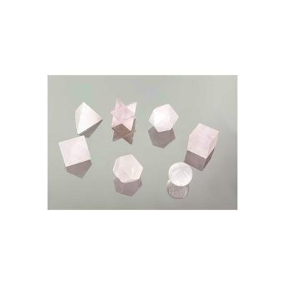 Solides de Platon Quartz Rose (7 solides)