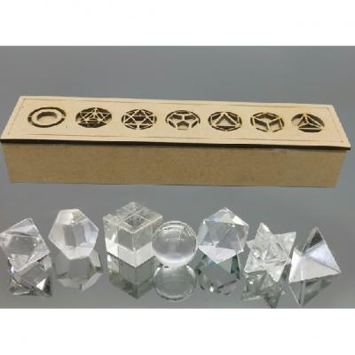 Solides de Platon Cristal de roche ( 7 )