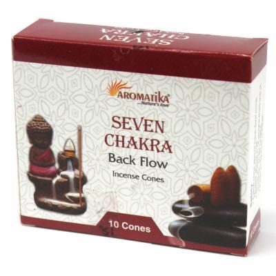 7 chakras Back Flow