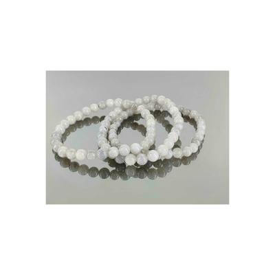 Bracelet Pierre de Lune grise 6 mm