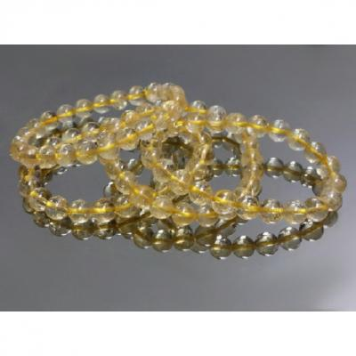 Bracelet Citrine Naturelle 8 mm