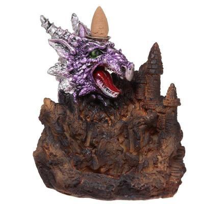 Brûleur d'Encens LED à Reflux - Dragon Violet