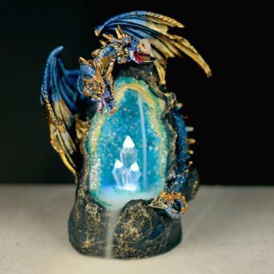 Brûleur d'Encens LED à Reflux - Cave de Cristal Dragon