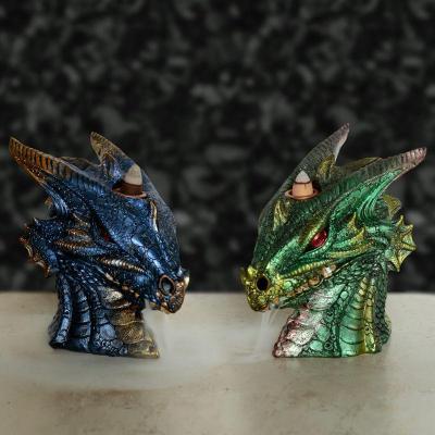 Brûleur d'Encens à Reflux - Dragon Terre et Eau