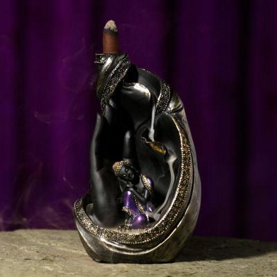 Brûleur d'Encens  à Reflux - Bouddha Thaï assis sur main