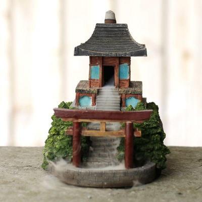 Brûleur d'Encens à Reflux - Temple Japonais dans son jardin