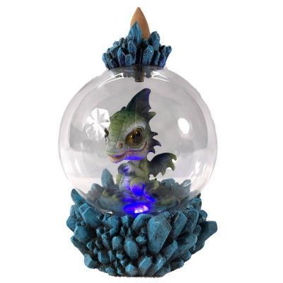 Brûleur d'Encens à Reflux - Globe du Bébé Dragon