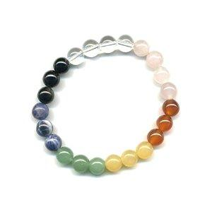 Bracelet 7 chakras 8 mm