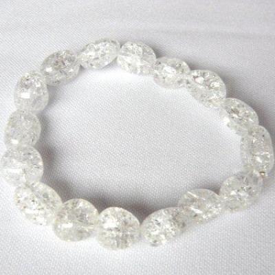 Bracelet Cristal de Roche craquelé 10 mm