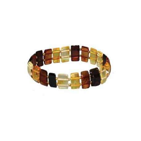 Bracelet ambre barrettes