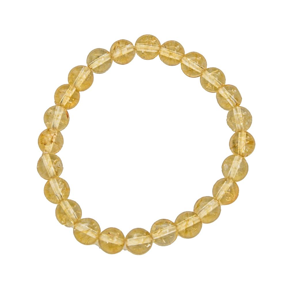 Bracelet citrine pierres boules 10mm 01