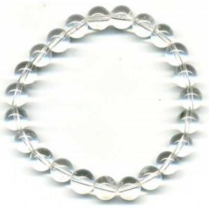 Bracelet Cristal de Roche craquelé 8 mm