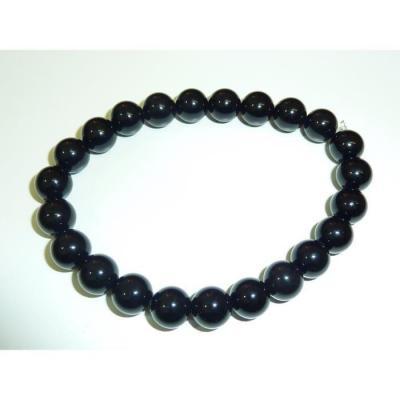 Bracelet Tourmaline Noire 10 mm