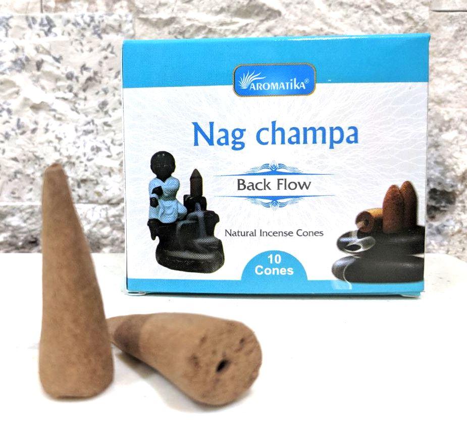 Cones back flow nag champa