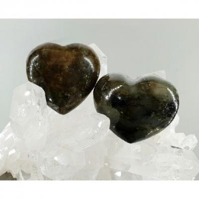 Coeur Labradorite 45mm x 35 mm
