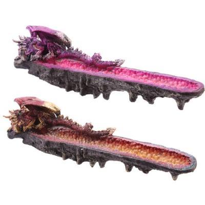 Porte Encens Dragon et géode