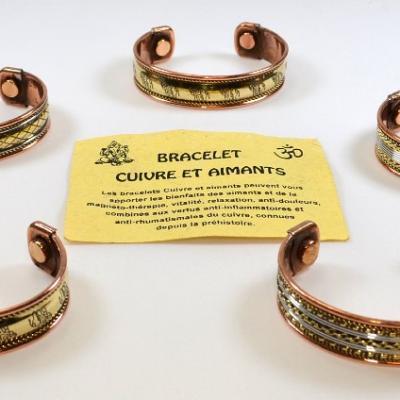 Bracelet Cuivre Magnétique Large