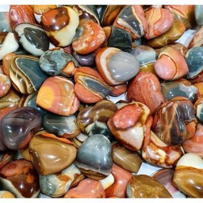 Coeur Jaspe Polychrome 35 mm à 40 mm