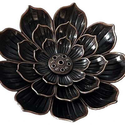 Porte Encens - Lotus métal