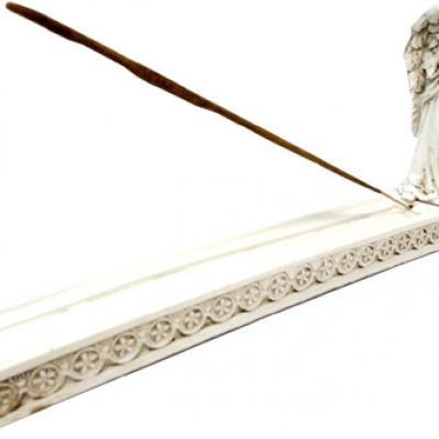 Porte Encens Ange blanc