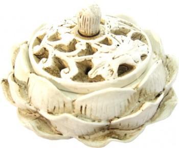 Porte Encens - Lotus blanc