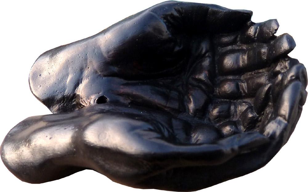Porte encens mains