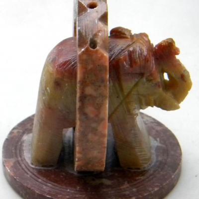 Porte Encens - Eléphants anneau