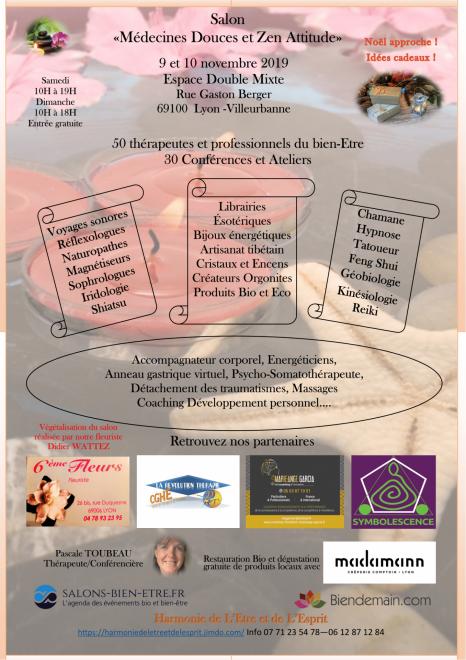 Salon medecines douces et zen attitude double mixte 9 et 10 novembre 2019