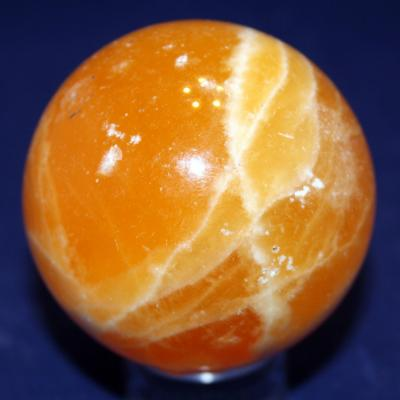 Sphère Calcite orange  (2)
