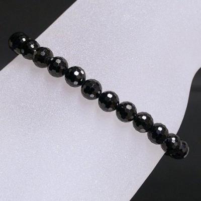 Bracelet Spinelle facetté 4 mm