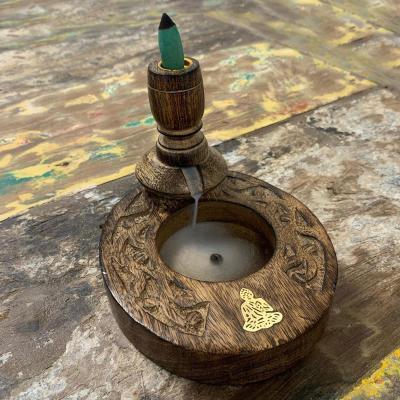 Fontaine à encens bois - Bouddha