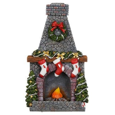 Brûleur d'Encens  à Reflux - Noel devant la cheminée